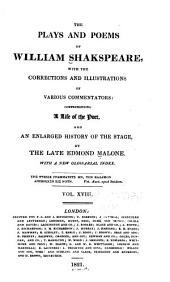 The Plays and Poems of William Shakspeare: Volume 18