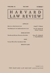 Harvard Law Review: Volume 131, Number 7 - May 2018