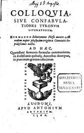 Colloquia, sive confabulationes tyronum literatorum