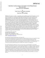 The Impact of Kazakhstan Accession to the World Trade Organization PDF