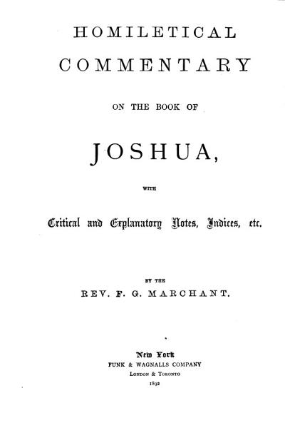 Download The Preacher s Complete Homiletical Commentary on the Old Testament  Joshua Book