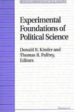 Experimental Foundations of Political Science PDF