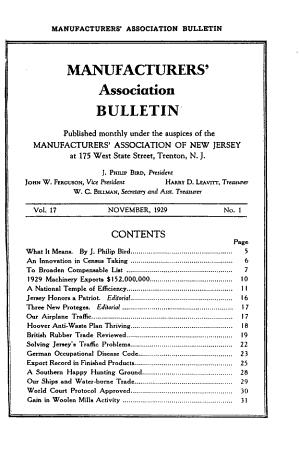 Manufacturers  Association Bulletin