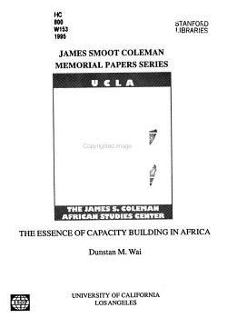 The Essence of Capacity Building in Africa PDF