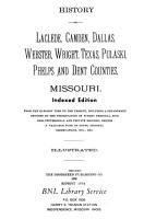 History of Laclede  Camden  Dallas  Webster  Wright  Texas  Pulaski  Phelps and Dent Counties  Missouri PDF