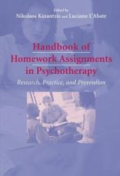 Handbook Of Homework Assignments In Psychotherapy Book PDF