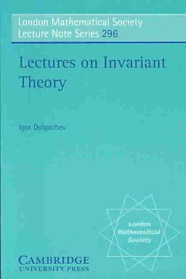 Lectures on Invariant Theory PDF