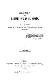 Exámen de la hacienda pública de España