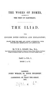 The Iliad, with Engl. notes by T.H.L. Leary