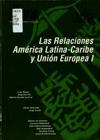 Las Relaciones Am  rica Latina Caribe Y Uni  n Europea I PDF
