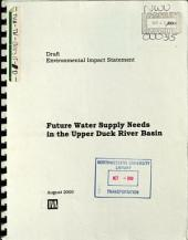 Future Water Supply Needs in the Upper Duck River Basin: Environmental Impact Statement