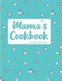Mama's Cookbook Aqua Blue Hearts Edition