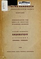 Gmelins Handbuch der anorganischen chemie PDF