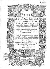 Les Cinq premiers livres des Annales de P. Cornelius Tacitus... Traduictz nouuellement de Latin en Francoys (par Jean Maugin)