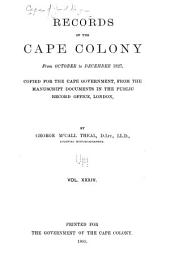 Records of the Cape Colony from February 1793: Volume 34