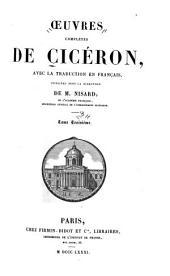 Oeuvres complètes de Cicéron: avec la traduction en français, Volume3