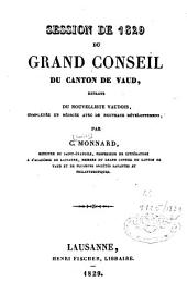 Session de [...] du Grand Conseil du Canton de Vaud, Extraite du Nouvelliste Vaudois