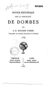 Notice historique sur la principauté de Dombes