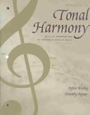 Tonal Harmony Wkbk with Wkbk Audio CD and Finale CD ROM PDF