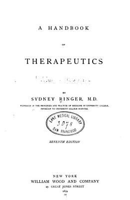 A Handbook of therapeutics c 2 PDF