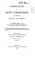 Commentaries on Equity Jurisprudence  as Administered in England and America PDF
