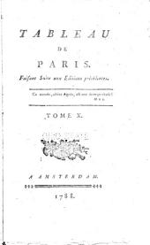 Tableau de Paris: Volume 10