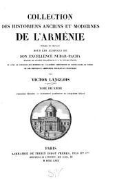 Collection des historiens anciens et modernes de l'Arménie: Volume2