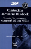 Construction Accounting Deskbook  2005 PDF