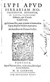 Epistolarum liber, nunc primum in lucem aeditus