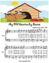 My Old Kentucky Home - Easy Piano Sheet Music Junior Edition