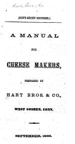 A Manual for Cheese Makers