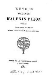 """Oeuvres badines """"d'Alexis Piron"""": precedees d'une notice sur sa vie"""