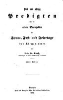 Drei und achtzig Predigten   ber die alten Evangelien der Sonn   Fest  und Feiertage des Kirchenjahres PDF