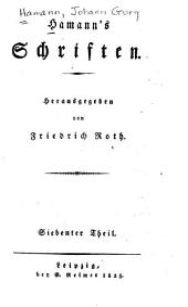 Hamann's Schriften: Volume7
