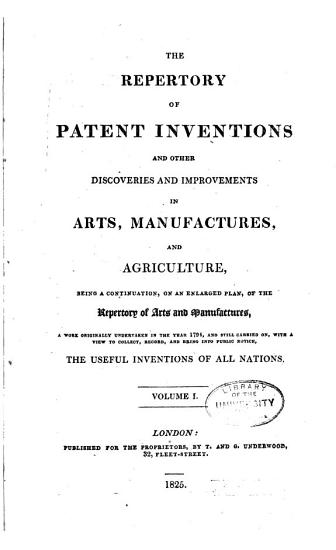 The Repertory of Patent Inventions PDF