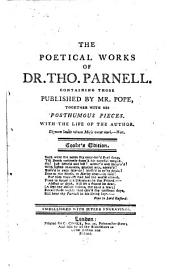 The poetical works of Dr. Tho. Parnell