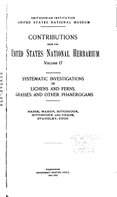 Contributions from the United States National Herbarium