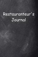 Restauranteur's Journal Chalkboard Design