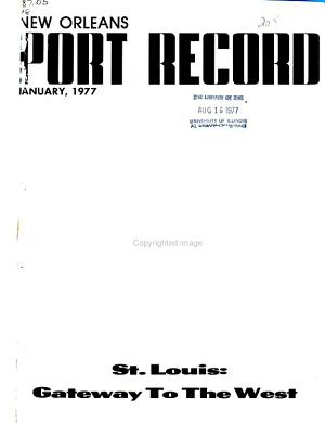 New Orleans Port Record PDF