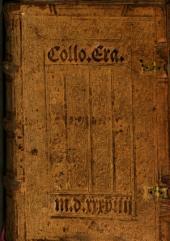 Familiarium colloquiorum ... opus
