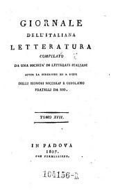 Giornale dell'Italiana letteratura: Volume 17