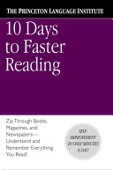 10 Days to Faster Reading Book