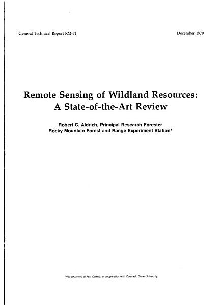 Download Remote Sensing of Wildland Resources Book