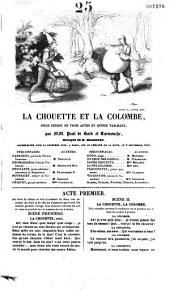La chouette et la colombe: pièce-féerie en trois actes et quinze tableaux