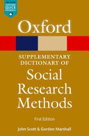 A Supplementary Dictionary of Social Research Methods PDF