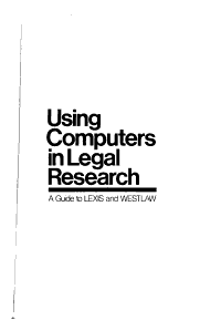 Using Computers in Legal Research PDF