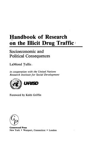 Handbook of Research on the Illicit Drug Traffic PDF