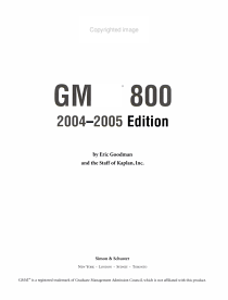GMAT 800  2004 2005 Edition PDF