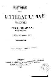 Histoire de la littérature française, 2: Volume2