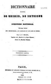 Dictionnaire usuel de chimie, physique et d'histoire naturelle